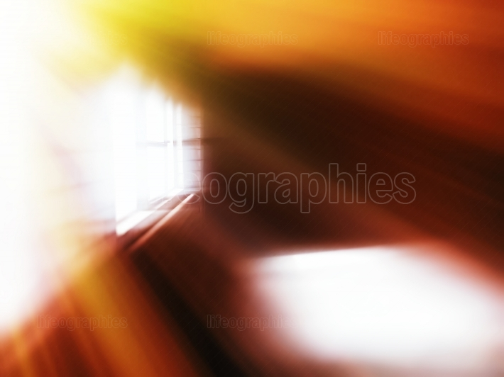 Diagonal light leak through window abstraction backdrop