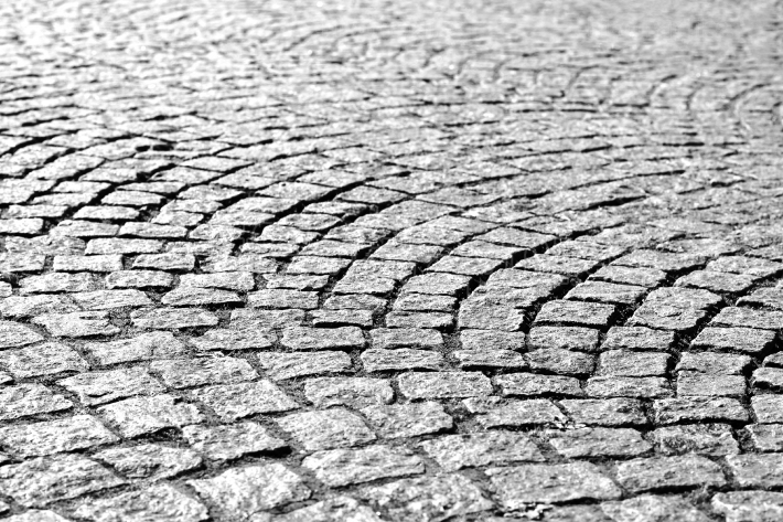 Diagonal medieval Norway pavement background