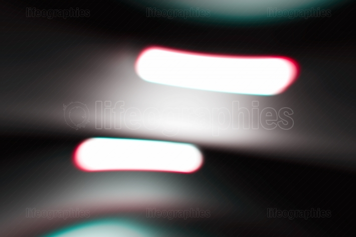 Diagonal night city lamps bokeh background