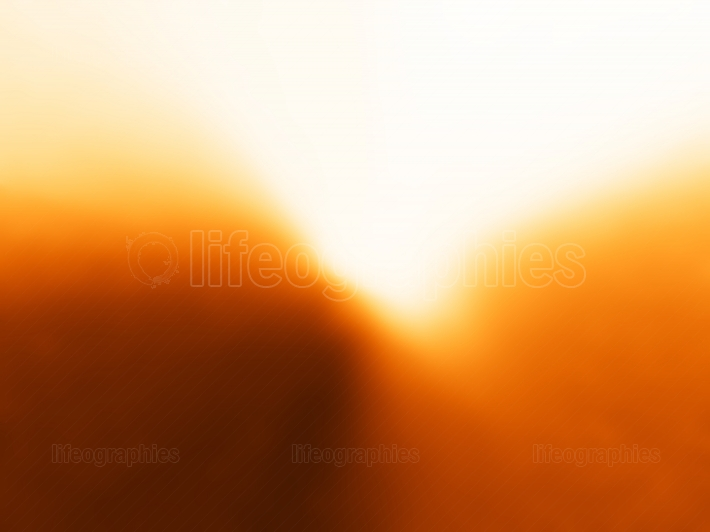 Diagonal orange light leak bokeh background