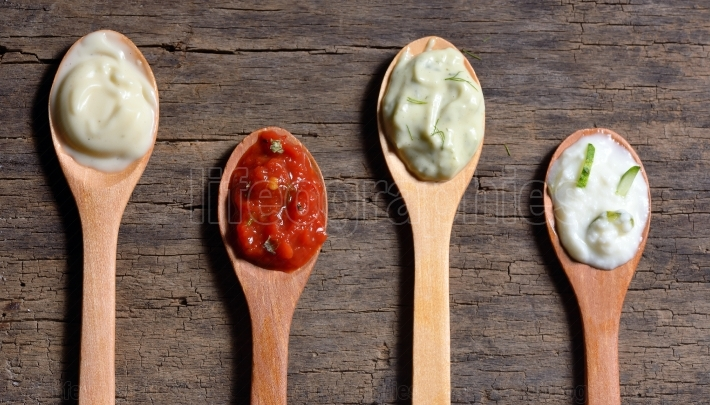 Different types of condiments