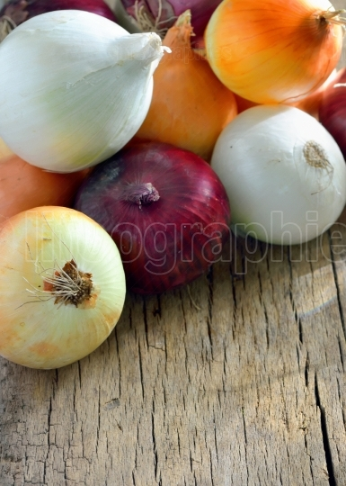 Different types of onion