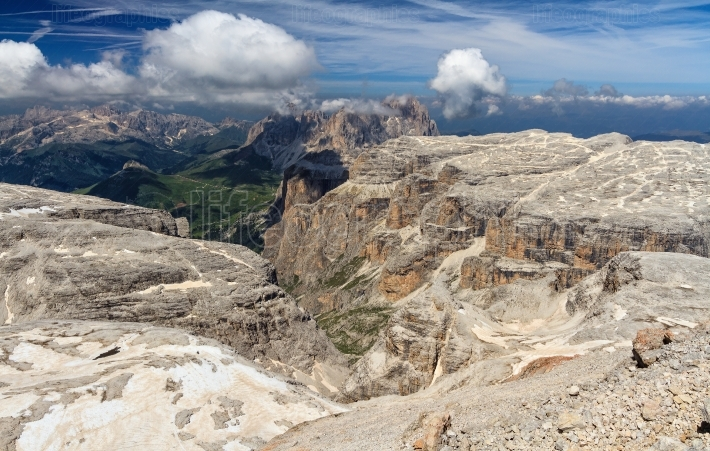 Dolomiti   view from Piz Boe