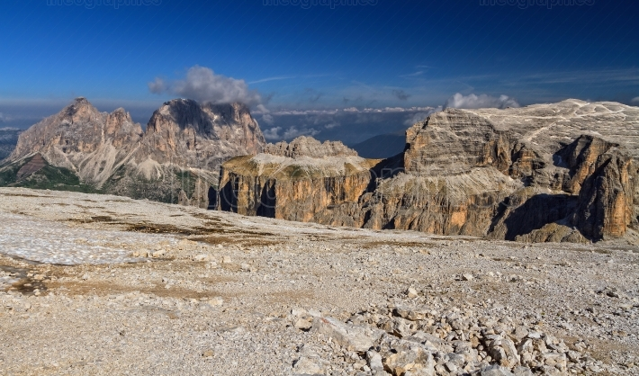 Dolomiti   view from Sass pordoi