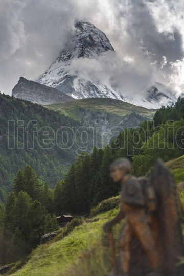 Dramatic scene of the Matterhorn
