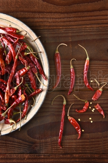 Dried Chilies Still Life