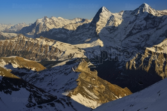 Eiger and Monch from Swiss Alps