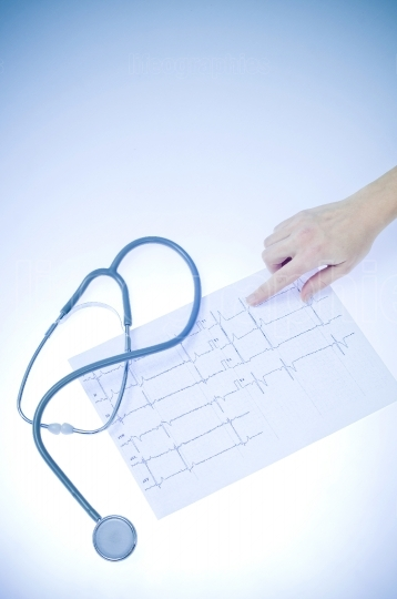 Ekg and stethoscope