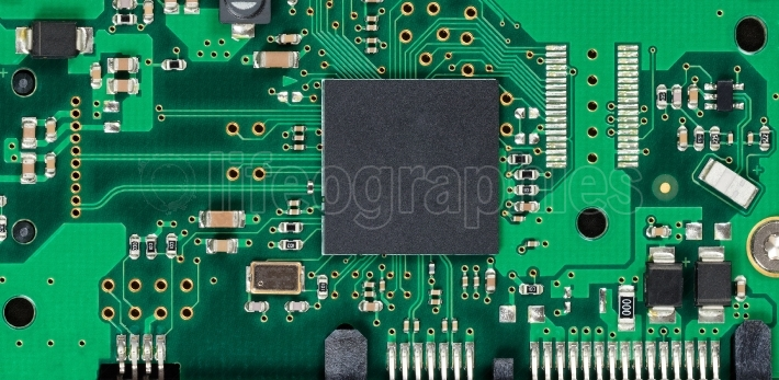 Electronic circuit board of computer hard drive