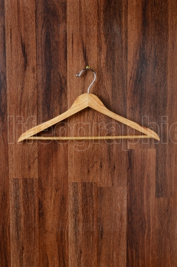 Empty Wooden Hanger