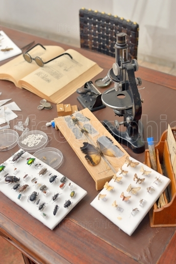 Entomologist office with Tools