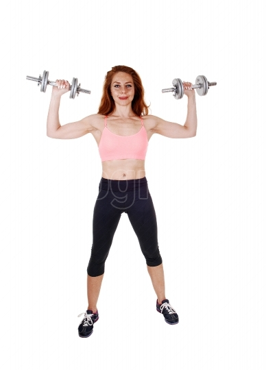 Exercising with dumbbell s
