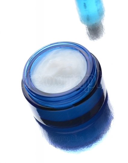 Facial Cream in Blue Jar