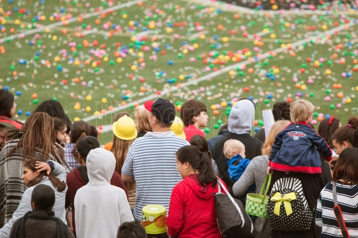 Families Await Start Of Massive Community Easter Egg Hunt