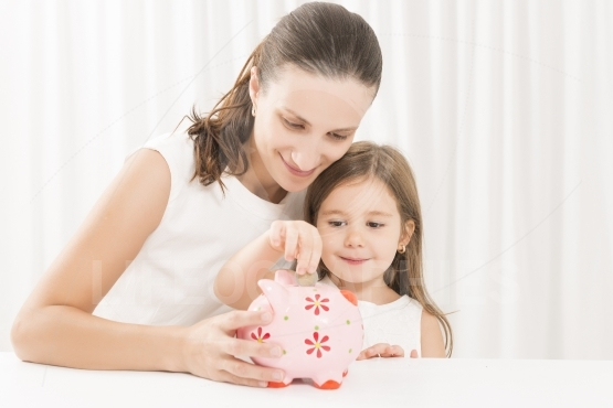 Family budget and savings concept