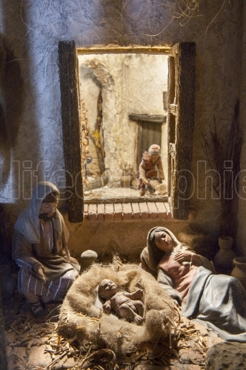 Family resting after Birth of Jesus