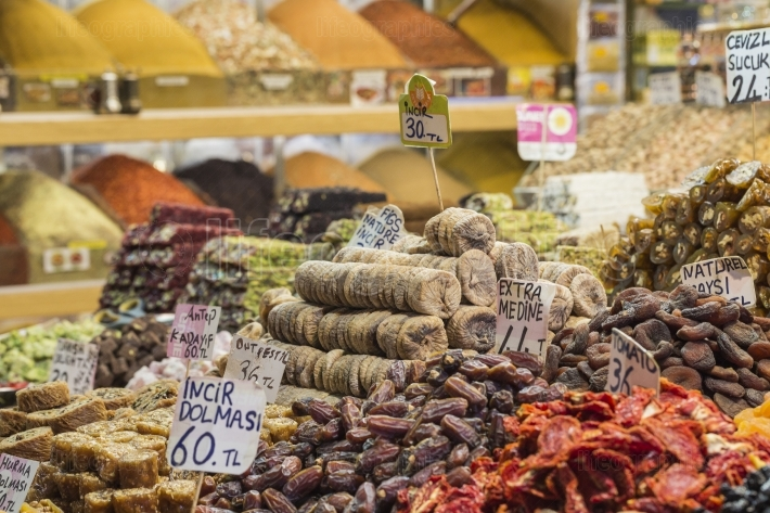 Famous turkish delights on the market