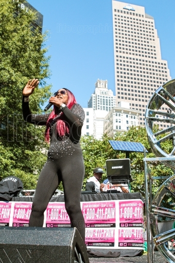Female Artist Performs At Free Atlanta Hip Hop Day
