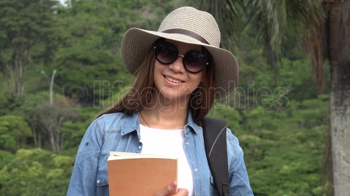 Female Student With Sunglasses