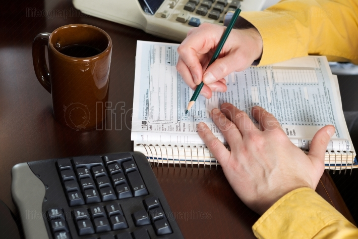 Filling out forms for Taxes
