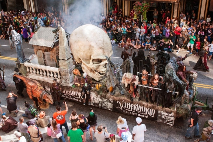 Float Promoting Haunted House Moves Through Atlanta Dragon Con P