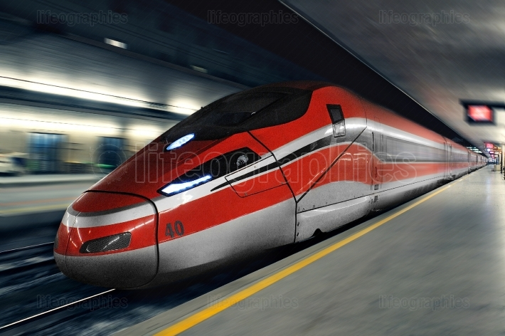 FLORENCE, ITALY   NOV26, 2016  Italian modern high speed train,