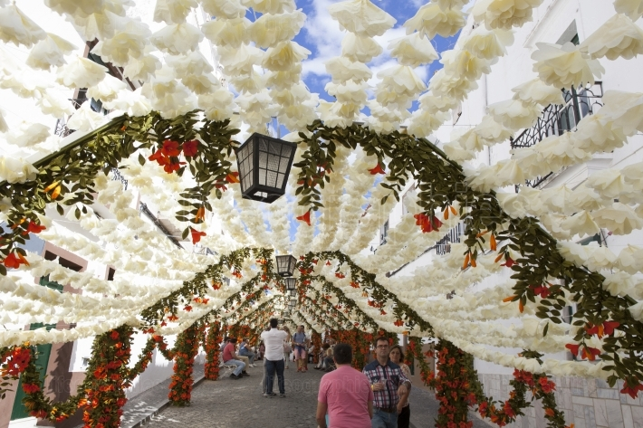 Flower festival in Campo Maior, Portugal