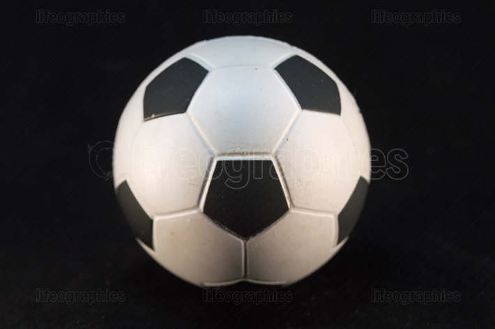 Football ball of white and black
