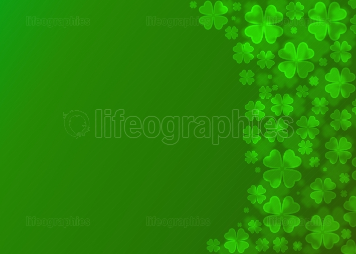 Four leaf clover bokeh effect.