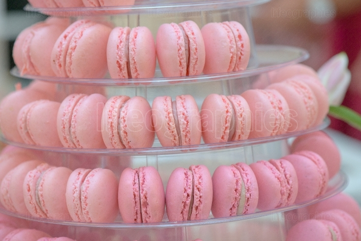 French macaroons Candy bar Wedding feast  Wedding sweets