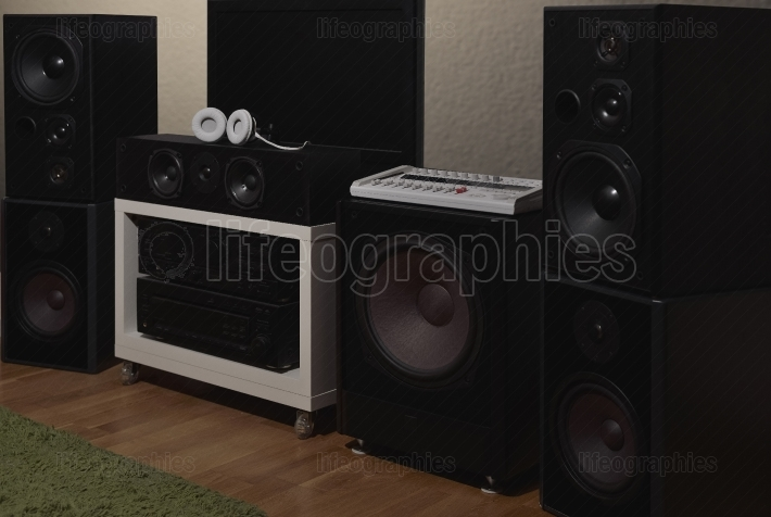 Front speakers from a 7.1 THX Hi-Fi sound system