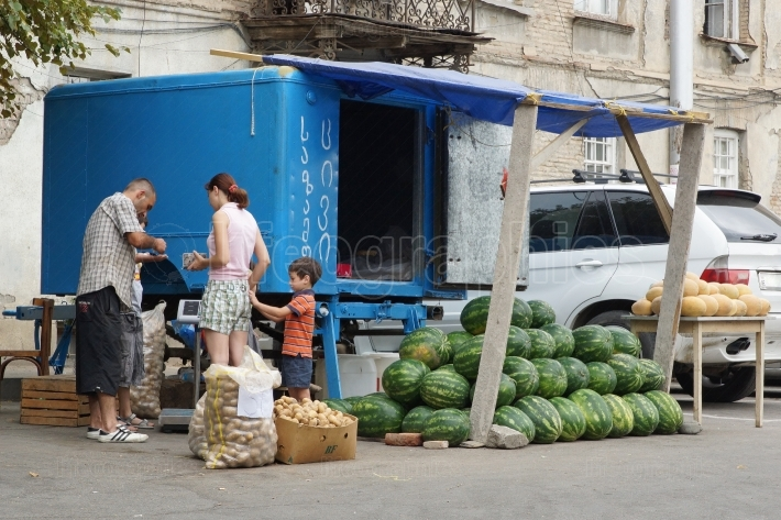 Fruit stand, Tbilisi, Georgia, Europe