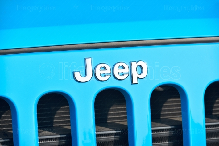 GALATI, ROMANIA - SEPTEMBER 2, 2017: Jeep is a brand of American automobiles that produce solely of sport utility vehicles and off-road vehicles
