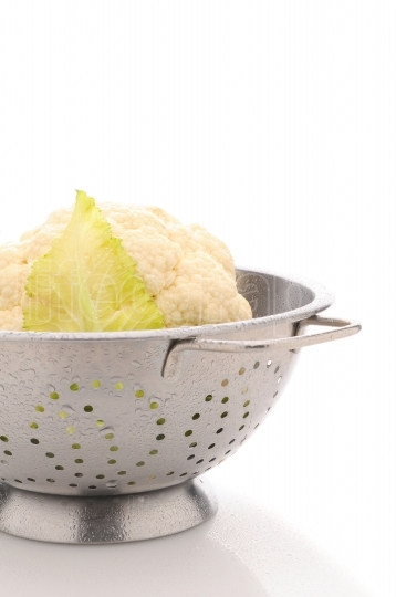 Garden Fresh Cauliflower in Colander