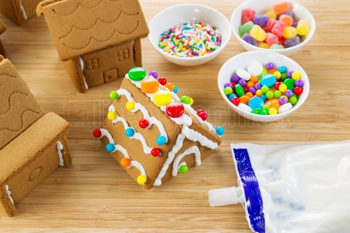 Gingerbread Houses being Made
