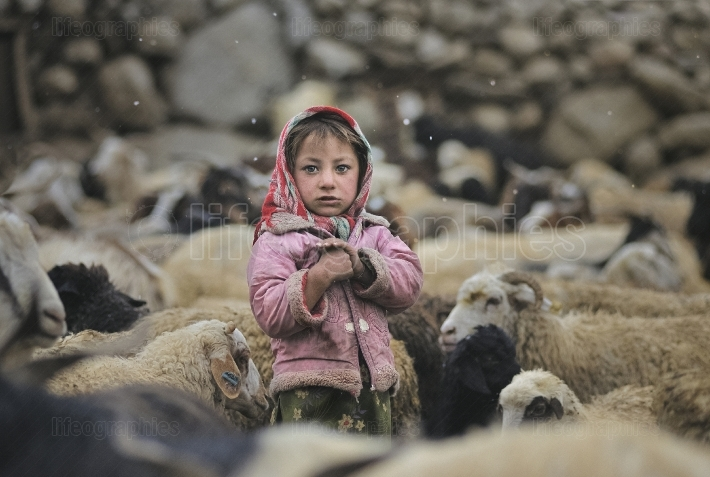 Girl from Upper Shimshal village