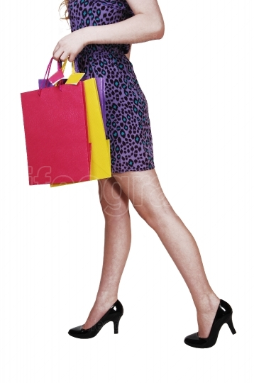 Girl with shopping bag s