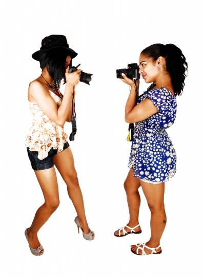 Girls taking pictures