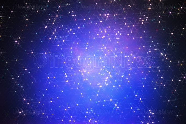 Glowing stars in space galaxy illustration background
