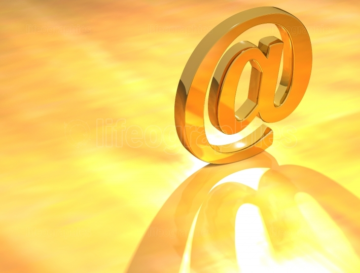 Gold Email Sign