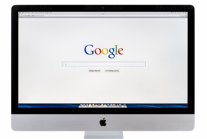 Google search home page on imac
