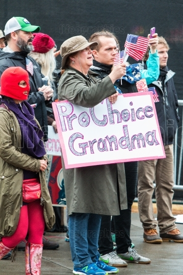 Grandmother Holds Pro Choice Sign At Atlanta Social Justice Marc