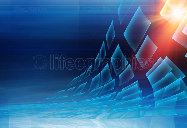 Graphical abstract technology background
