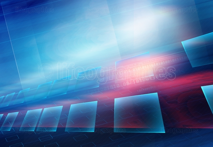 Graphical Abstract Technology Background  Motion Effect  Blur