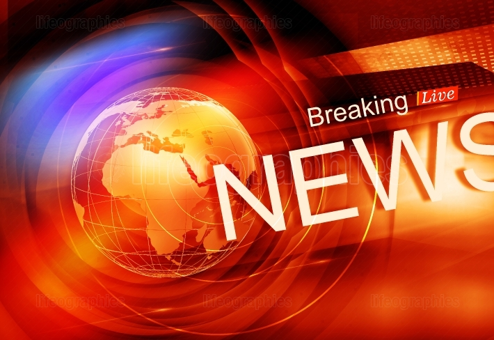 Graphical Colorful Live Breaking News Background Concept Series