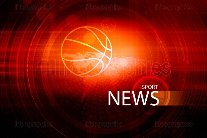 Graphical digital sport news background with news text Concept S