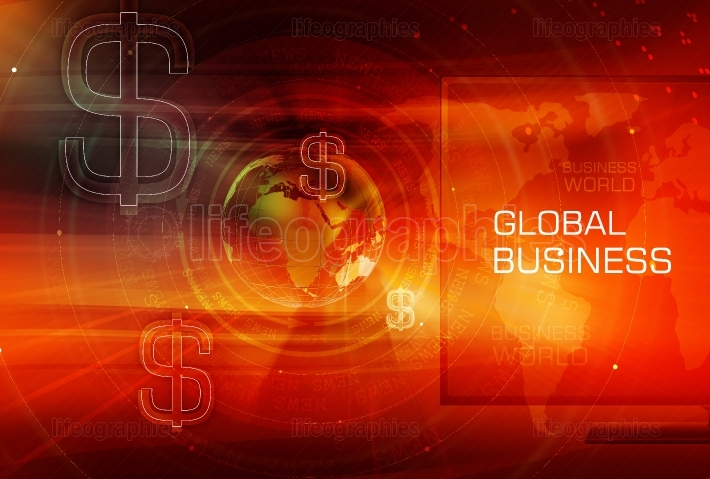 Graphical Finance and Global Business Background Concept Series