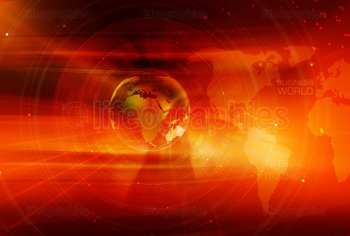 Graphical Global Business Background Concept Series 162