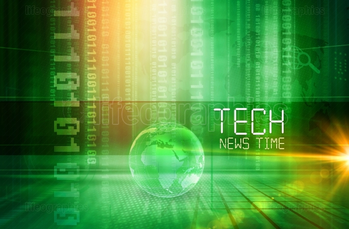 Graphical Tech News Time Presentation Background Concept Series