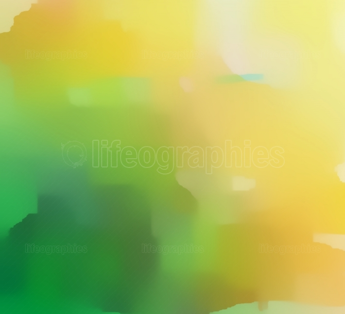Green Yellow Colorful Abstract Painting